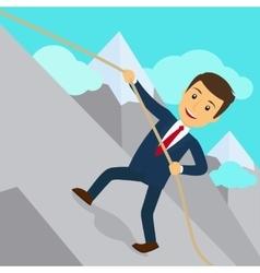 Businessman uphill climb vector image vector image