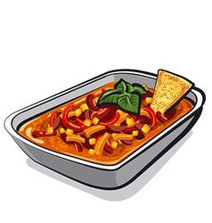 Chili con carne vector