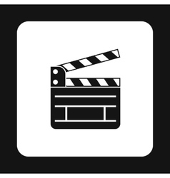 Clapboard icon in simple style vector