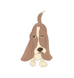 Cute basset hound dog vector