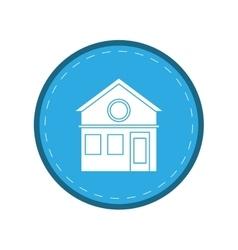 Family house facade residential design circle vector