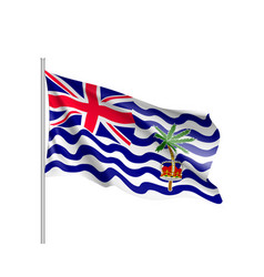 Flag british india ocean territory vector