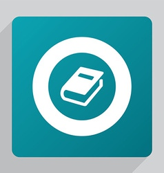 Flat book icon vector