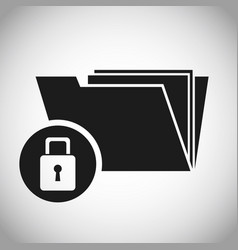 folder files padlock protection data vector image