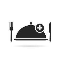 food ordering with black tray vector image vector image