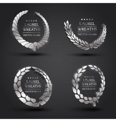 Gold silver bronze laurel wreath vector