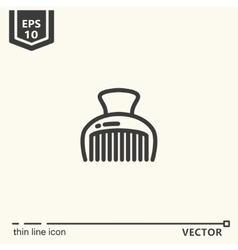 Hairdressing tools Icons series Hairpin vector image vector image