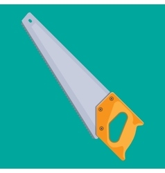 Hand saw with hardened teeth vector