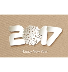Happy New Year 2017 background with paper vector image vector image