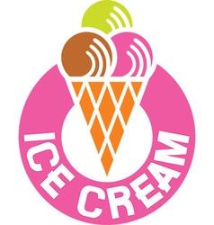 Ice cream sign icon vector