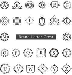 LETTERS CREST vector image vector image