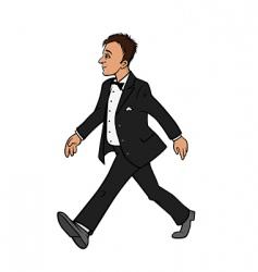 man in tuxedo vector image vector image