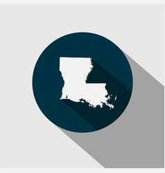 map of the us state louisiana vector image vector image