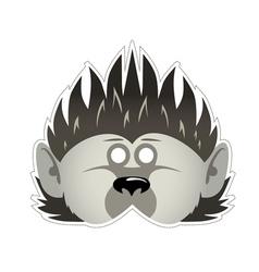 Mask hedgehog vector