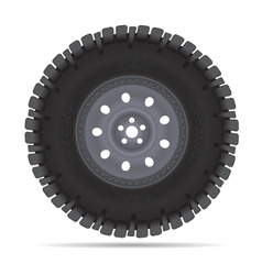 Off road vehicles wheel vector image