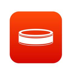Puck icon digital red vector