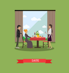 Romantic date in flat style vector