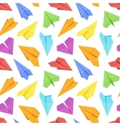 Seamless pattern with colored paper planes vector image vector image
