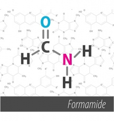 set of chemistry Organic formulas vector image