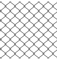 fence steel netting seamless pattern vector image