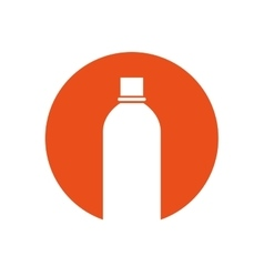 Bottle white pictogram color circle vector