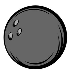 Bowling ball icon cartoon vector