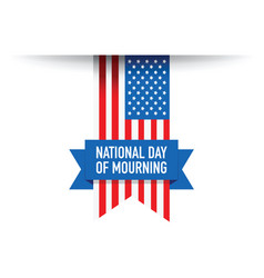 National day of mourning flag vector