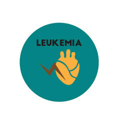 Icon on circle various symptoms of leukem vector