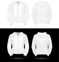 Plain training hooded jackets template vector image