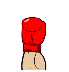 Boxer hand in glove isolated sport vector