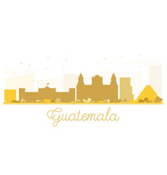 Guatemala city skyline golden silhouette vector