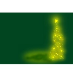 Green xmas tree vector