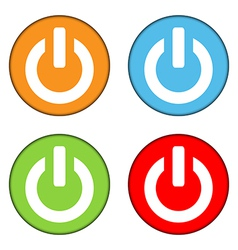 Power sign button set vector