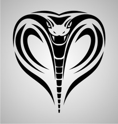 King Cobra Head Tribal vector image