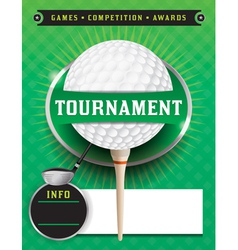 Golf Tournament Template vector image