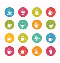 Coffee icons set circle series - eps10 vector