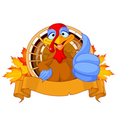 Cute turkey vector