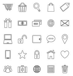 Ecommerce line icons on white background vector image