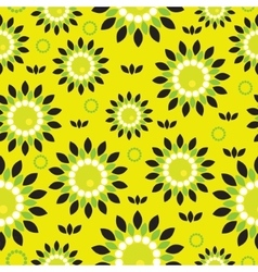 Seamless background with abstract flowers vector