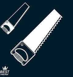 Stylized metal saw with sharp teeth clear eps8 vector