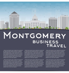 Montgomery skyline with grey building vector