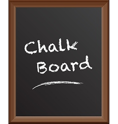 Chalk board class rules vector