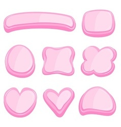 Set of pink frame vector