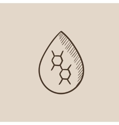 Oil drop sketch icon vector
