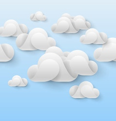 Abstract white clouds vector image