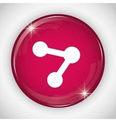 Share button icon social media design vector