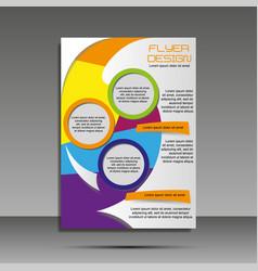 a4 minimal color design annual report brochure vector image vector image