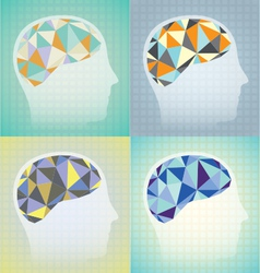 Abstract Brain Synapses Set vector image