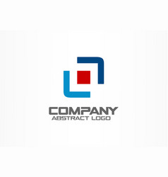 abstract business company logo corporate identity vector image vector image