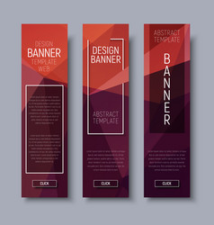 banner polygon template vertical 01-16 vector image
